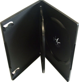 3 way black DVD case