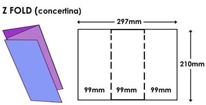 tri fold sizes