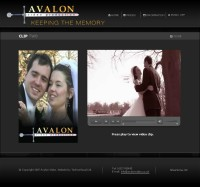 Avalon Video Wedding Web Site