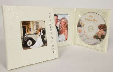'Modern Range' Small Cream Double CD/DVD Disc Case (no window)